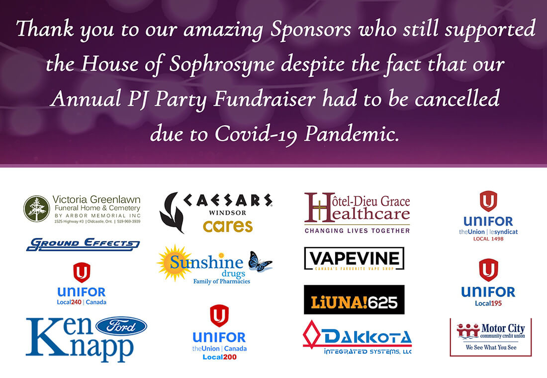 2020 PJ Party - Thank you to our sponsors